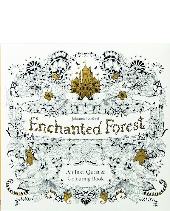 Enchanted Forest An Inky Quest Amp Colouring Book Johanna