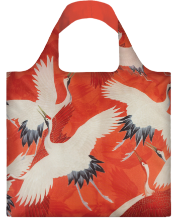 Torba. Woman's Haori with White and Red Cranes