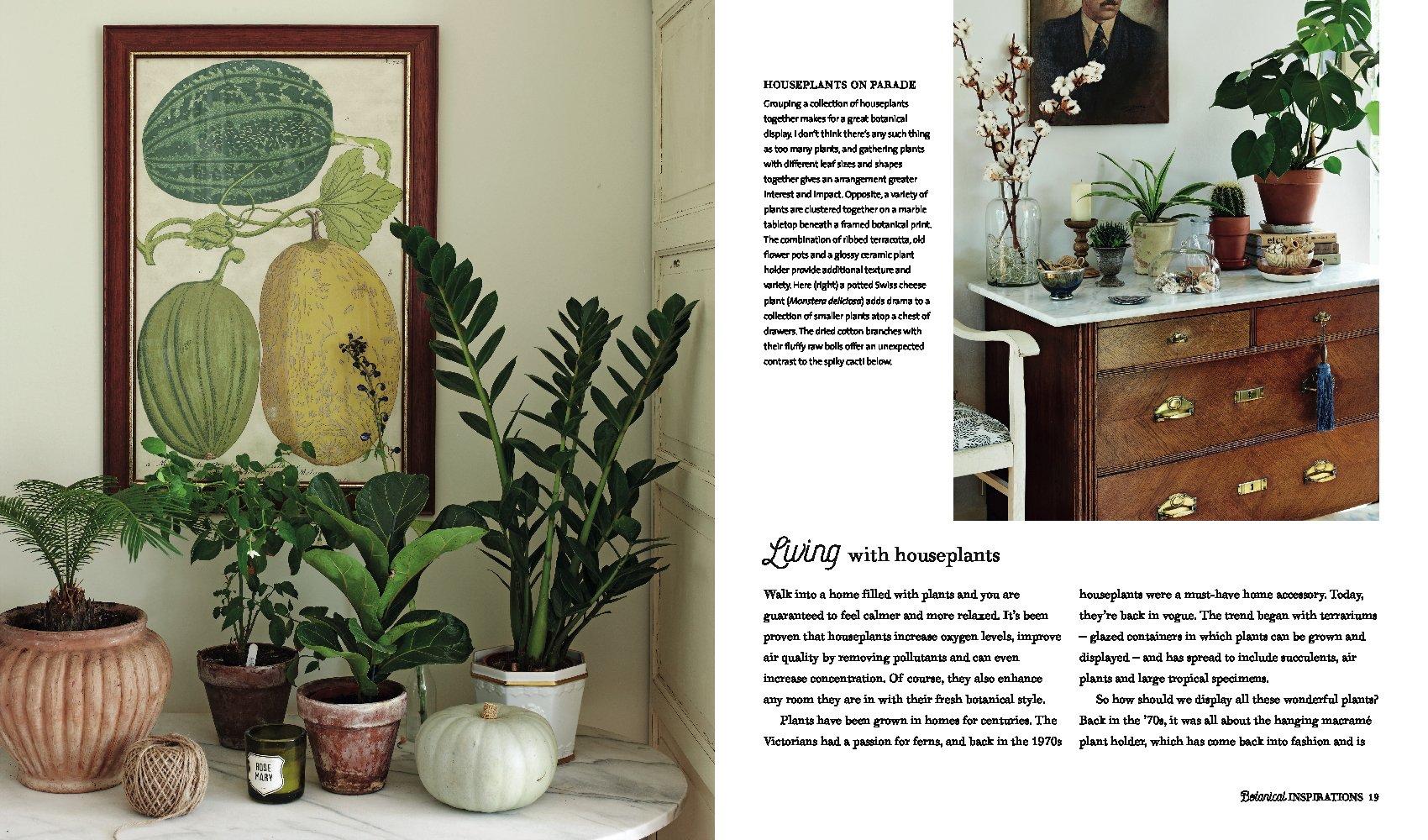 Botanical Style. Inspirational Decorating With Nature