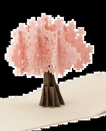 Kartka 3D. Drzewo wiśni japońskiej