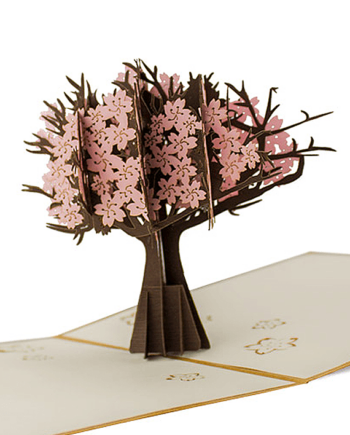 Kartka 3D. Drzewo wiśniowe